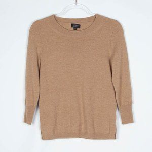 J. Crew 100% Cashmere Tan Crew Neck Sweater XS